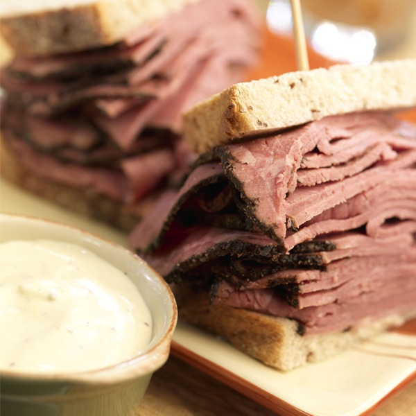 Jersey pastrami sandwich close-up