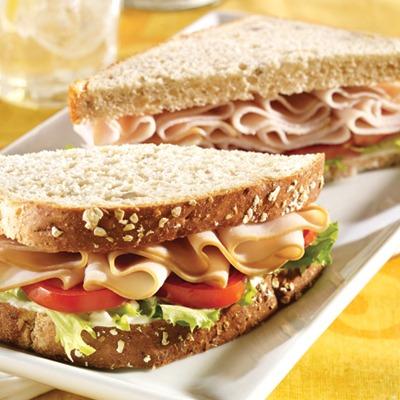All-American turkey sandwich on a plate