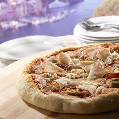 Hand-tossed Mediterranean pizza
