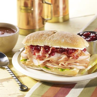 Cranberry turkey ciabatta club roll