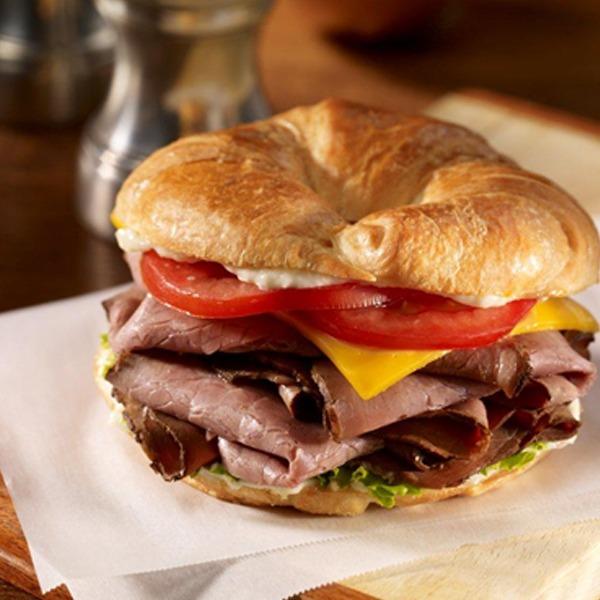 Monterey black and blue beef croissant sandwich