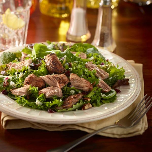 Turkey pot roast cranberry kale salad in a bowl