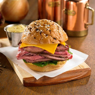 Dijon beef and cheddar roll