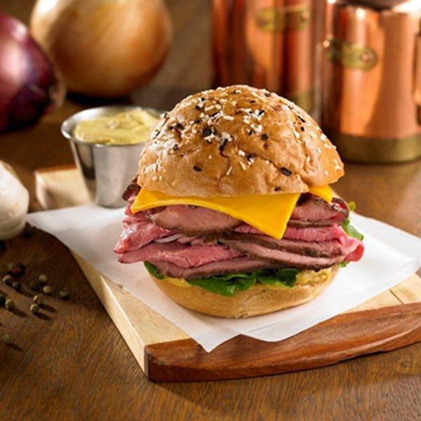 Dijon beef and cheddar roll sandwich
