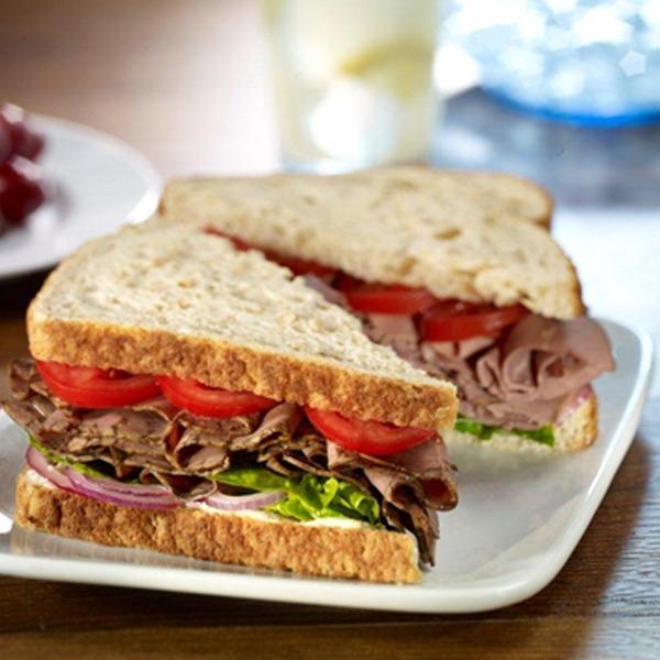 All-American roast beef sandwich