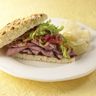 Roast beef Monterey sandwich