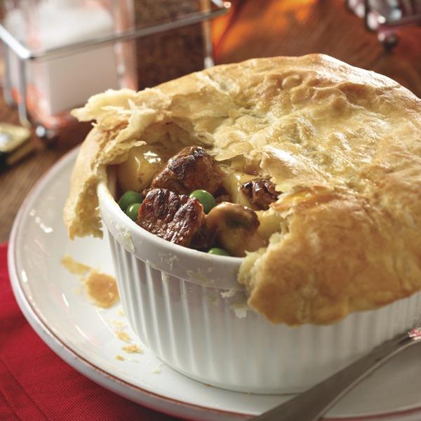 Beef pot roast crock pie