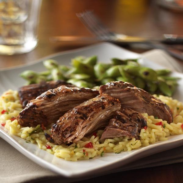 Turkey pot roast pilaf on a plate