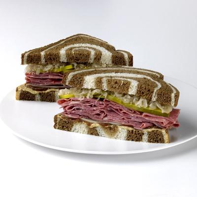 Reuben jam sandwich on a plate