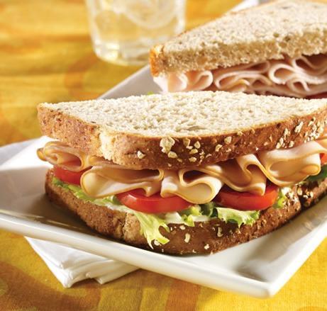 Sliced turkey sandwich on a plate