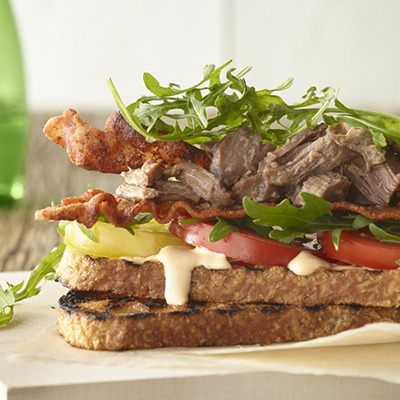 Pot roast BLT sandwich