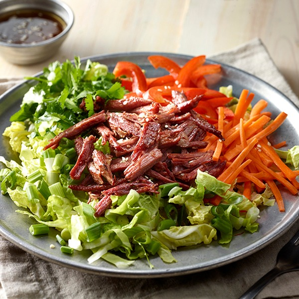 Corned beef cabbage salad on a plate