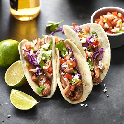 Pulled beef street tacos